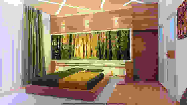 В стиле экоминимализм Спальня в стиле минимализм от Architoria 3D Минимализм