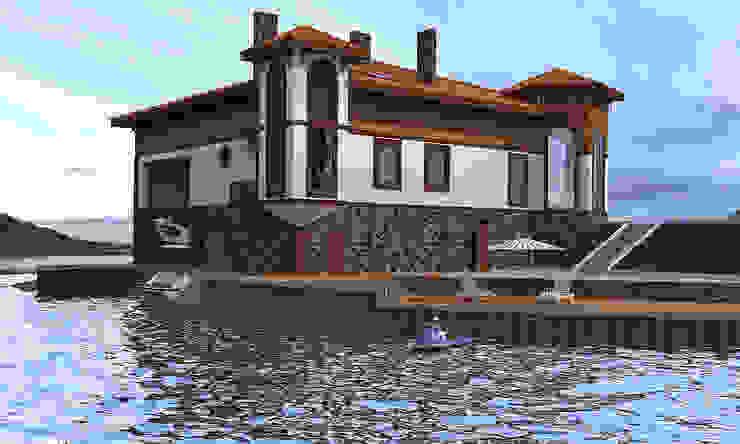 Эллинг с ландшафтом Дома в средиземноморском стиле от Architoria 3D Средиземноморский