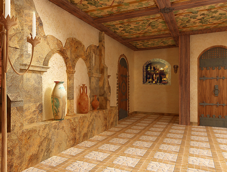 Хорошо в винном погребе Винный погреб в средиземноморском стиле от Architoria 3D Средиземноморский