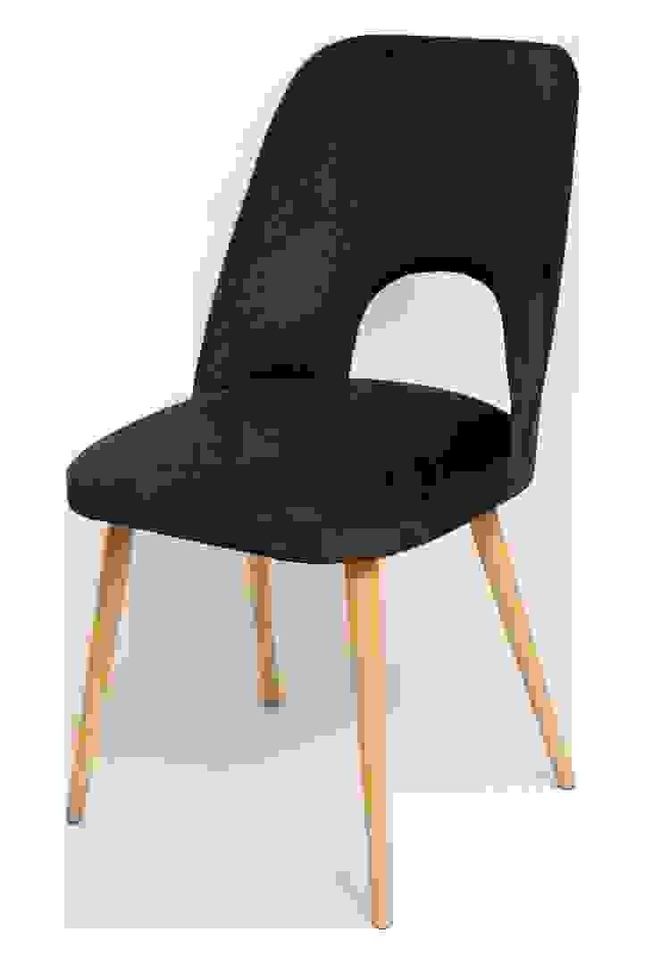 """Krzesło """"z dziurką"""", czarne, lata 60. od Lata 60-te Skandynawski"""