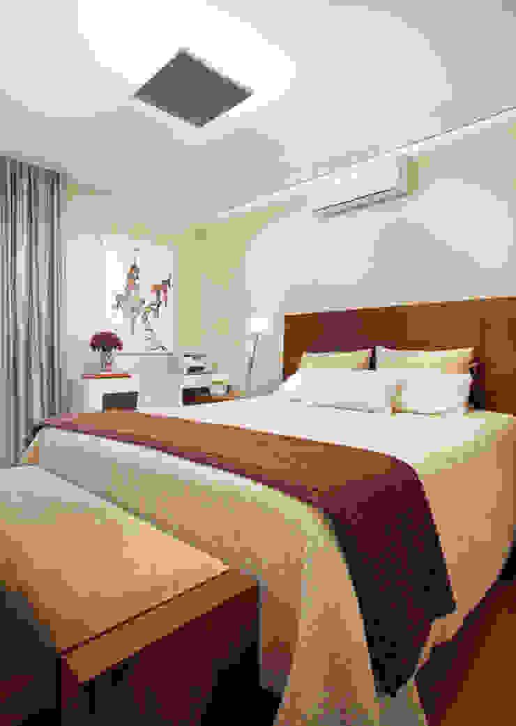 Liliana Zenaro Interiores Modern style bedroom Wood Beige