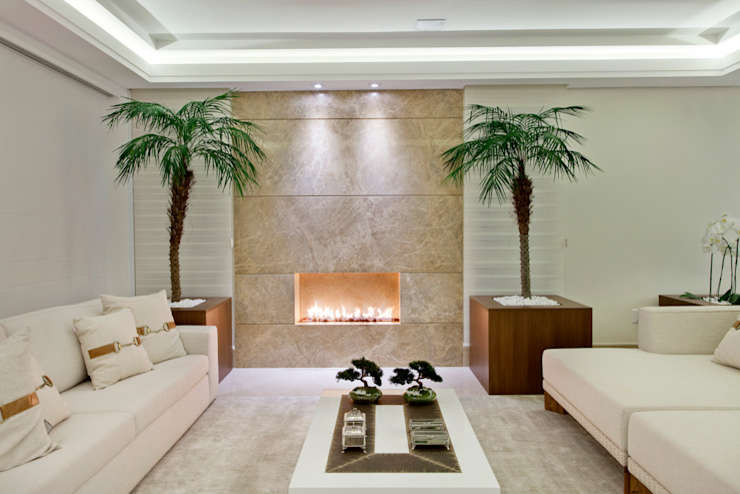 Salones de estilo  de Designer de Interiores e Paisagista Iara Kílaris, Moderno