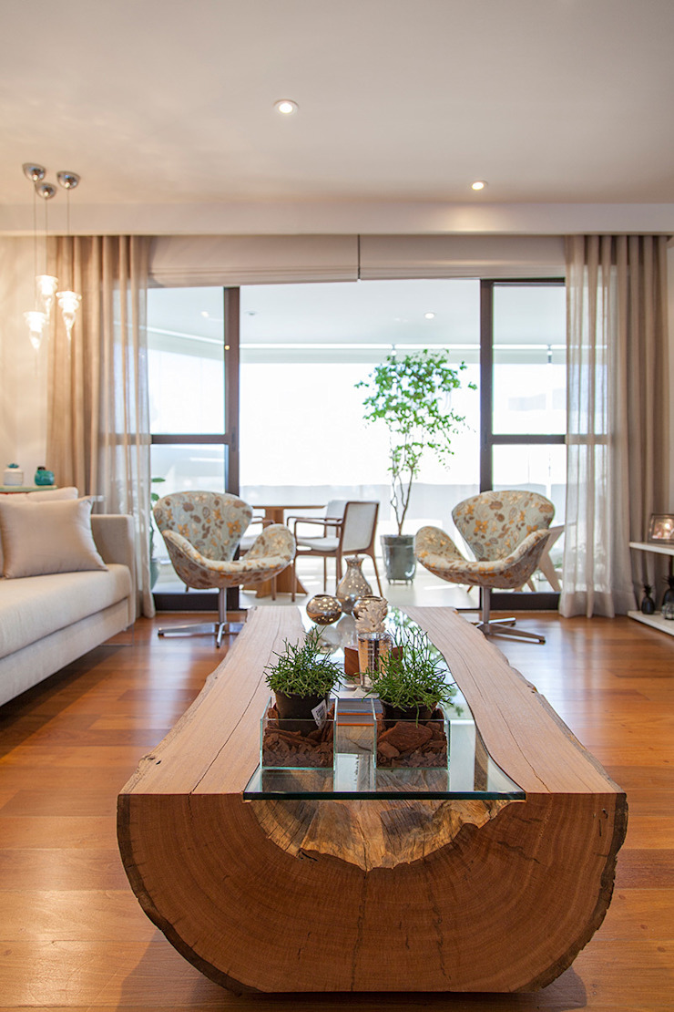 Salas de estilo moderno de Helô Marques Associados Moderno