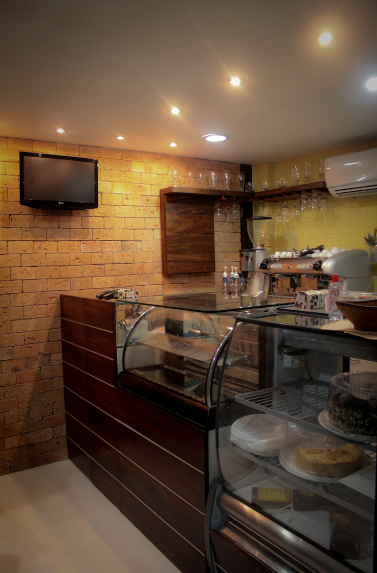 Café Bistro Espaços gastronômicos rústicos por Milla Holtz & Bruno Sgrillo Arquitetura Rústico