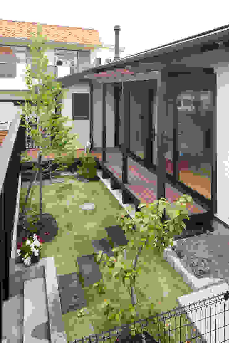 北側眺望の家 和風デザインの テラス の 志賀建築設計室 和風