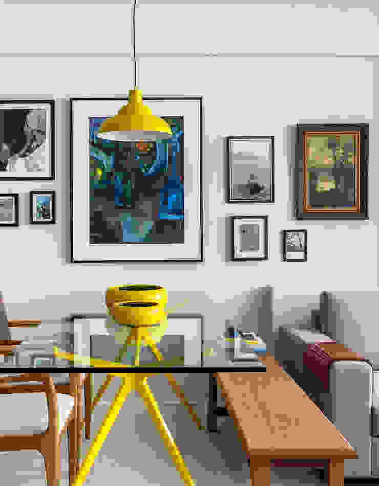 Sala jantar e estar Salas de jantar modernas por Milla Holtz & Bruno Sgrillo Arquitetura Moderno