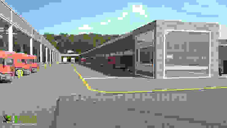 3D Commercial Factory Exterior Design: modern  by Yantram Architectural Design Studio, Modern