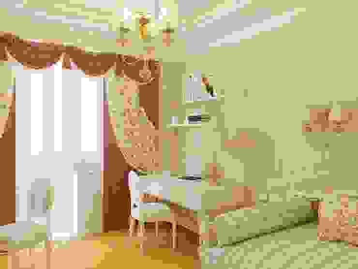 Дизайн интерьера детской комнаты для девочки Детская комнатa в классическом стиле от Архитектурное Бюро 'Капитель' Классический