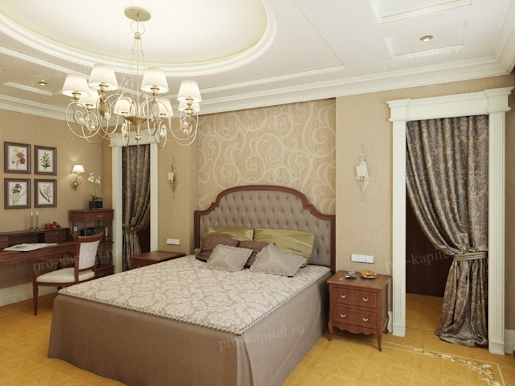 Дизайн интерьера спальни Спальня в классическом стиле от Архитектурное Бюро 'Капитель' Классический