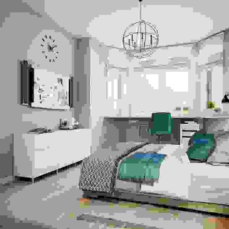 Skandinavische Schlafzimmer von Анна Теклюк Skandinavisch
