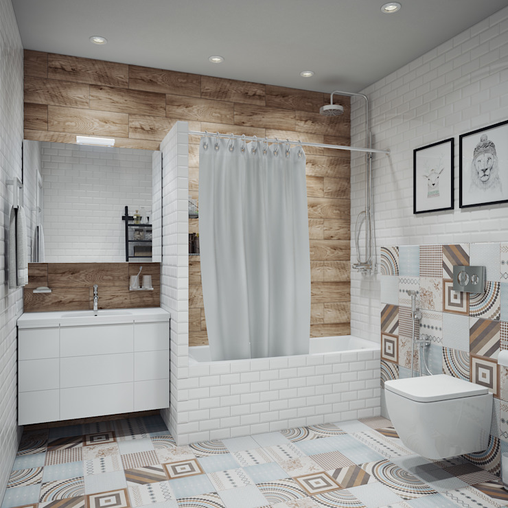 Ванная в скандинавском стиле Ванная комната в скандинавском стиле от Анна Теклюк Скандинавский