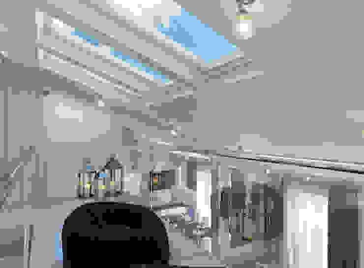 Квартира с мансардой Гостиная в стиле минимализм от Александра Кудрявцева Минимализм