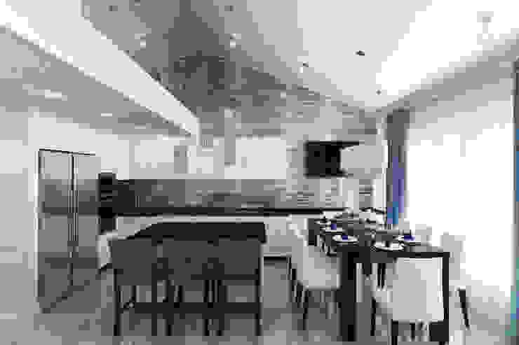 Квартира с мансардой Кухня в стиле минимализм от Александра Кудрявцева Минимализм