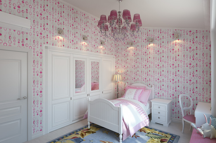 Квартира с мансардой Детская комнатa в стиле минимализм от Александра Кудрявцева Минимализм