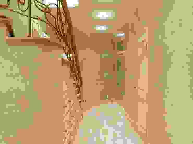 Двухуровневая квартира с выходом на эксплуатируемую кровлю Коридор, прихожая и лестница в эклектичном стиле от Александра Кудрявцева Эклектичный