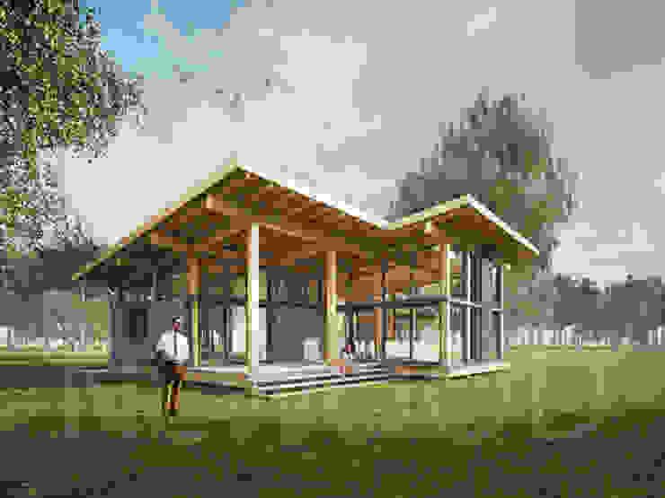 Nhà phong cách Bắc Âu bởi NEWOOD - Современные деревянные дома Bắc Âu