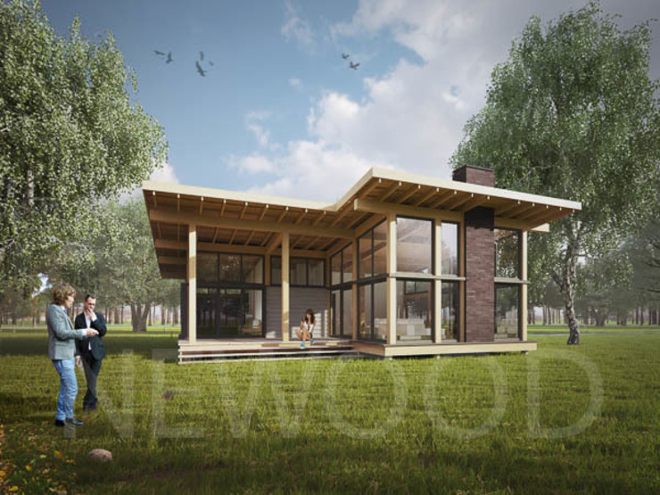 Scandinavian style balcony, porch & terrace by NEWOOD - Современные деревянные дома Scandinavian