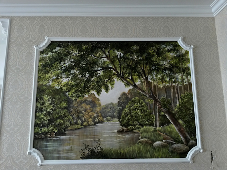 Абрикос Ruang Keluarga Klasik