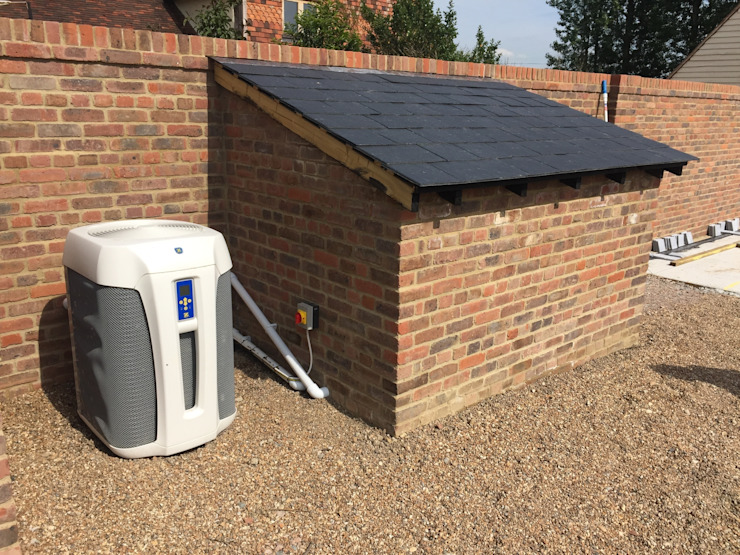 Pool house and Air Source Heat Pump XL Pools Ltd