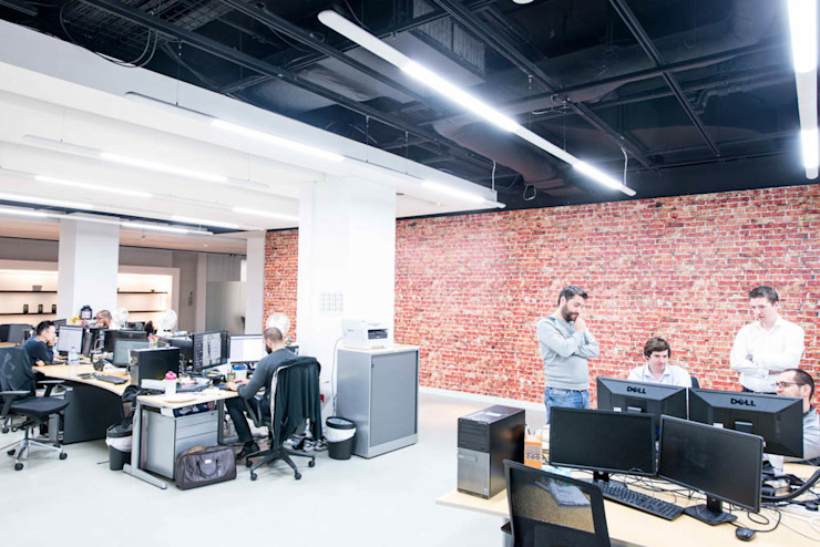 Industrial brick effect wall mural for office interior design Vinyl Impression Office buildings