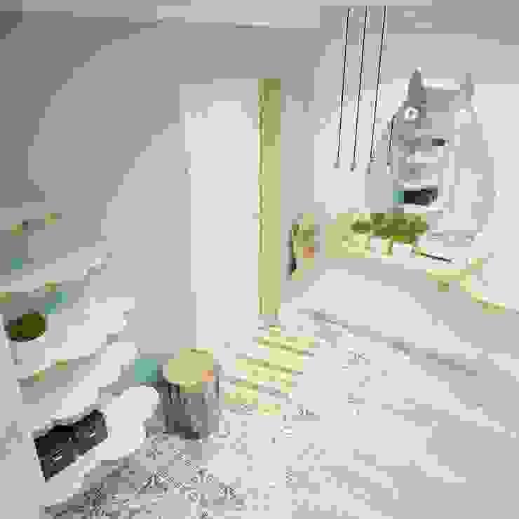 Прихожая Тоторо Коридор, прихожая и лестница в азиатском стиле от Мастерские проекта Про.Движение> Азиатский