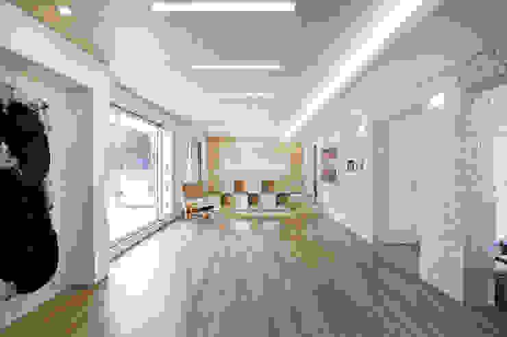 판교 호연당(好緣堂)주택 모던스타일 거실 by (주)건축사사무소 아뜰리에십칠 모던