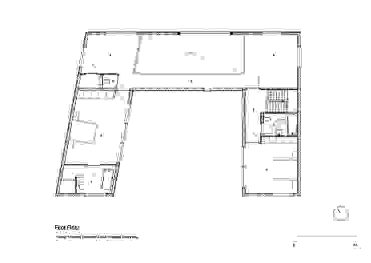 Huis in Harkstede, eerste verdieping: modern  door RVDV architectuur, Modern