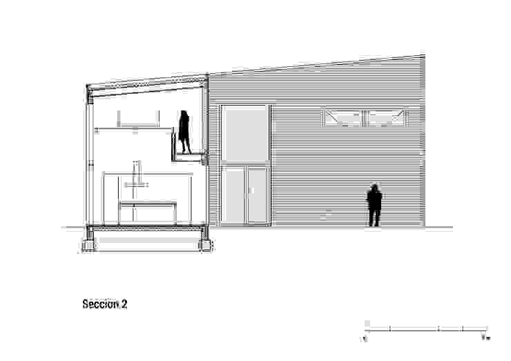 Huis in Harkstede, doorsnede 2: modern  door RVDV architectuur, Modern