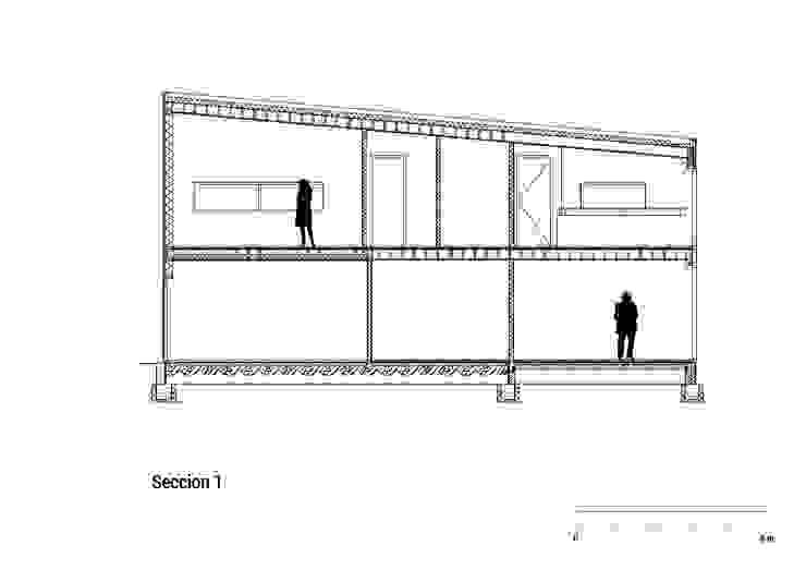Huis in Harkstede, doorsnede 1: modern  door RVDV architectuur, Modern