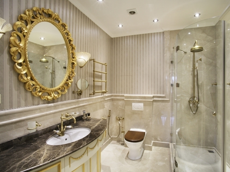 Klasyczna łazienka od Tina Gurevich Klasyczny