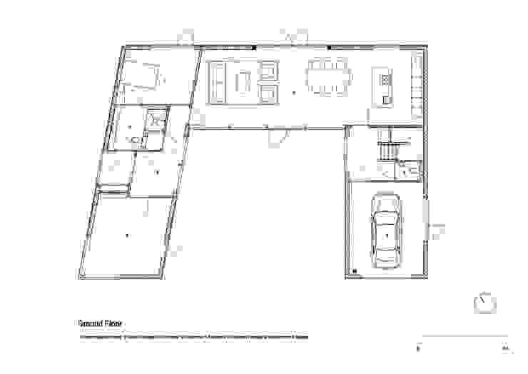 Huis in Harkstede, begane grond: modern  door RVDV architectuur, Modern