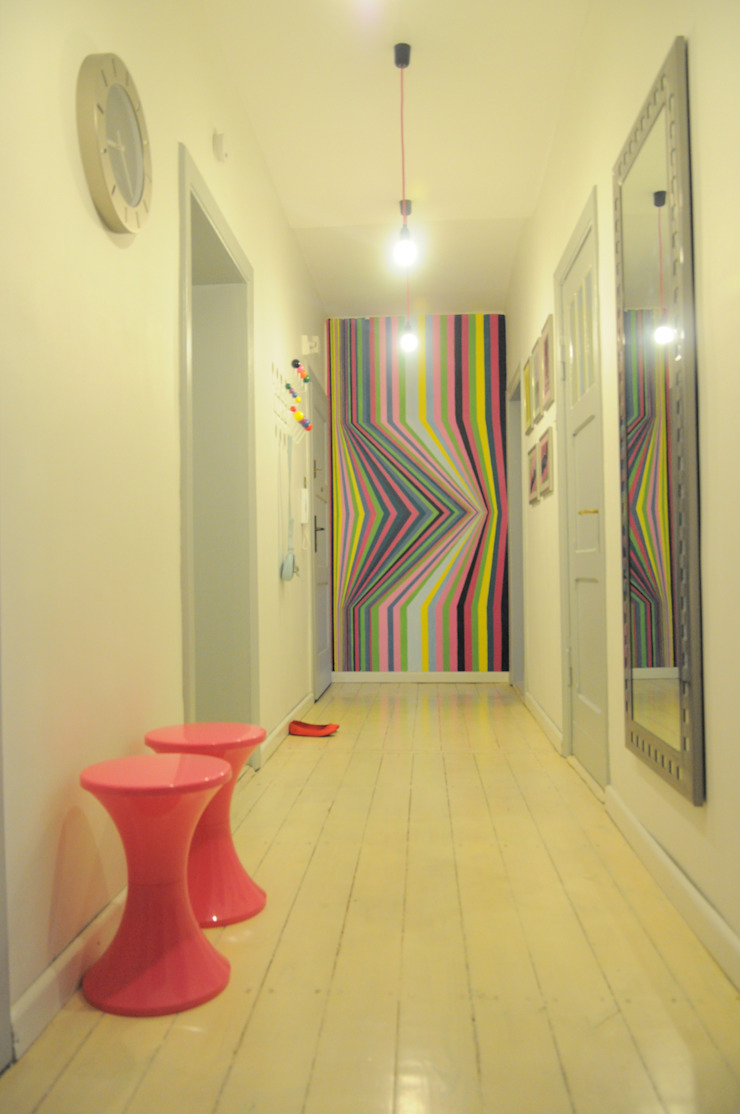 Mieszkanie z duszą Perfect Home Skandynawski korytarz, przedpokój i schody