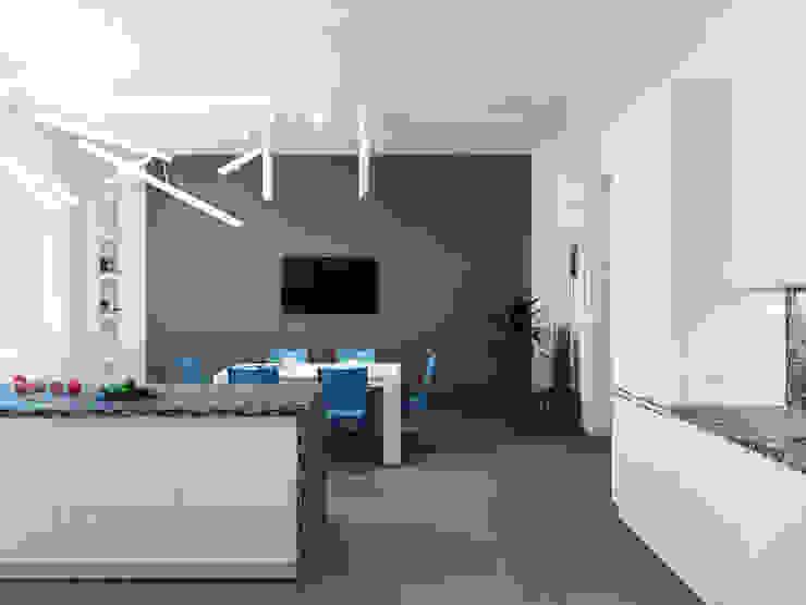 Salle à manger minimaliste par Оксана Мухина Minimaliste