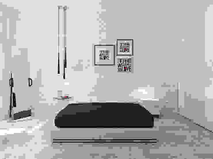 ミニマルスタイルの 寝室 の Оксана Мухина ミニマル