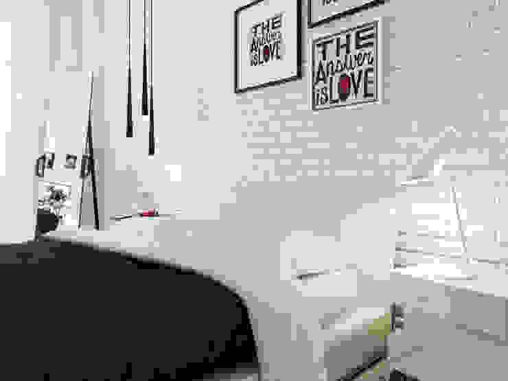 Dormitorios minimalistas de Оксана Мухина Minimalista