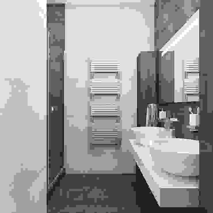Ванная 1й этаж Ванная комната в стиле минимализм от Оксана Мухина Минимализм