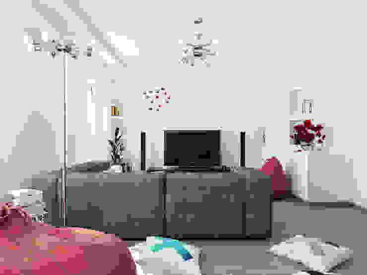 Salon minimaliste par Оксана Мухина Minimaliste