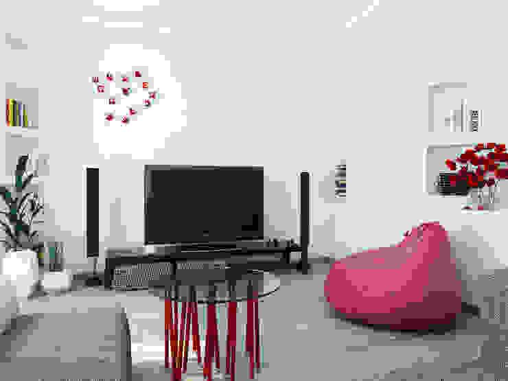 Гостиная комната 2й этаж Гостиная в стиле минимализм от Оксана Мухина Минимализм