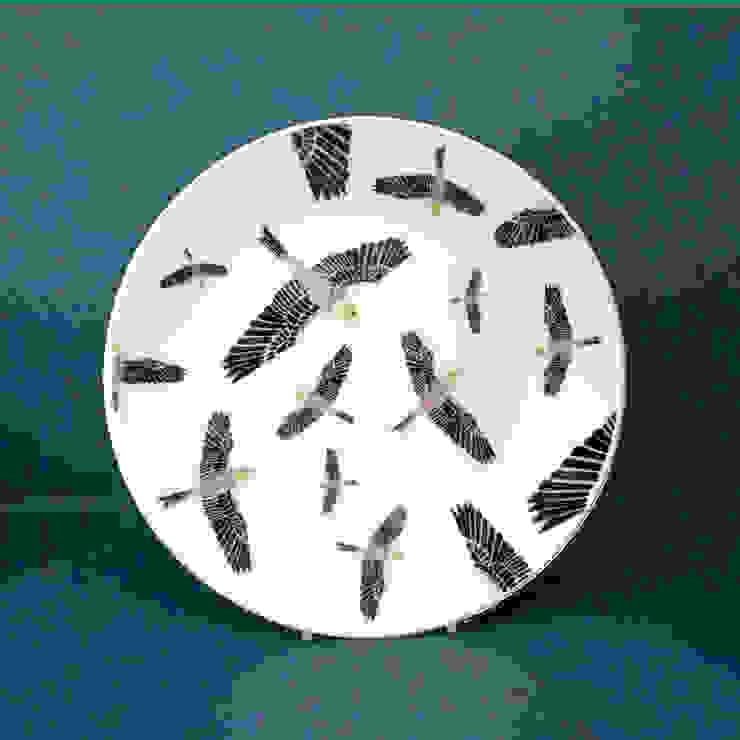 Birds Katy Leigh CocinaVasos, cubiertos y vajilla