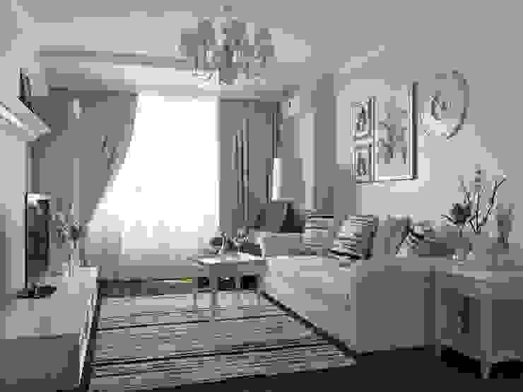 Однокомнатная квартира: Гостиная в . Автор – Оксана Мухина, Колониальный
