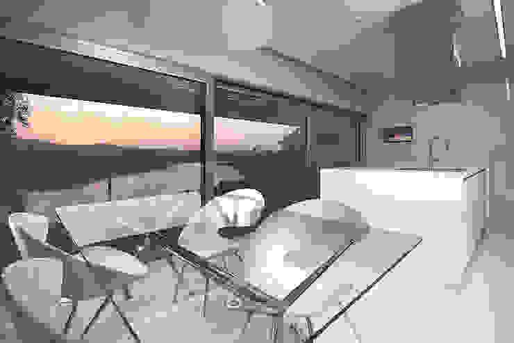 Moradia travessa Clube dos Caçadores -Gondomar-lote1 Cozinhas minimalistas por Albertina Oliveira-Arquitetura Unipessoal Lda Minimalista