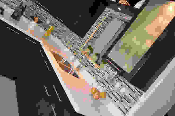 Cocina Thermofoil Espresso 5 Cocinas modernas de Toren Cocinas Moderno