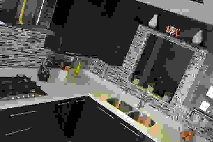 Cocina Thermofoil Espresso 6 Cocinas modernas de Toren Cocinas Moderno