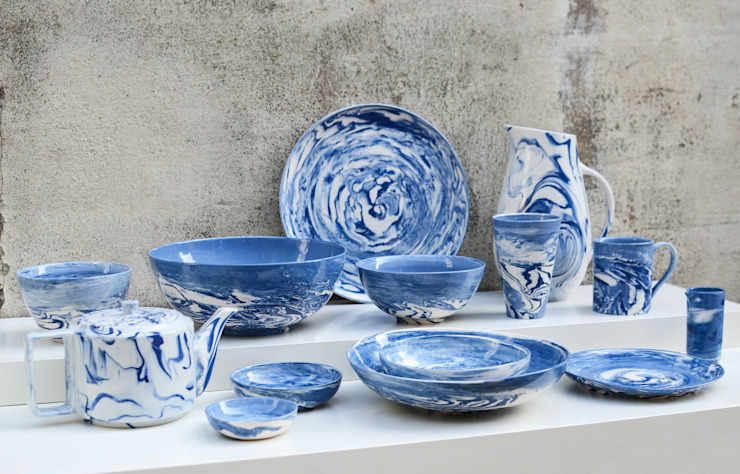 Blue and White Collection Nom Living Dining roomCrockery & glassware