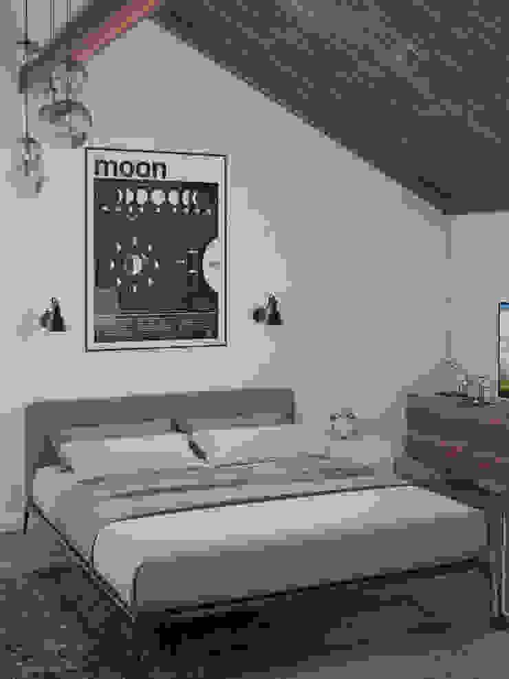 Белый дом Спальня в стиле минимализм от room4life Минимализм