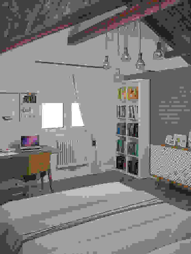 Белый дом Детская комнатa в стиле минимализм от room4life Минимализм