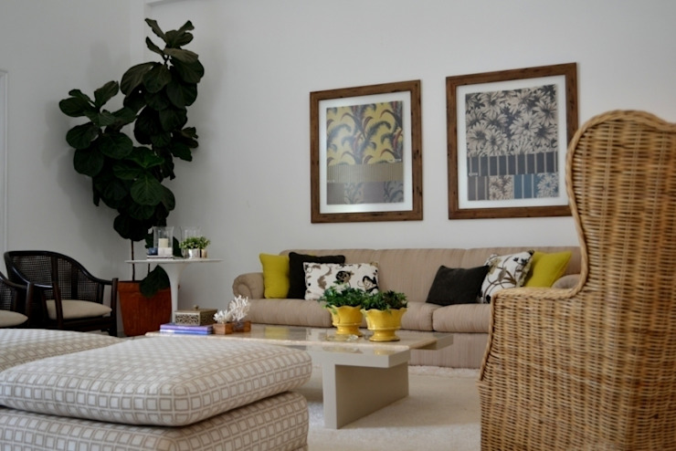 Helô Marques Associados Country style living room