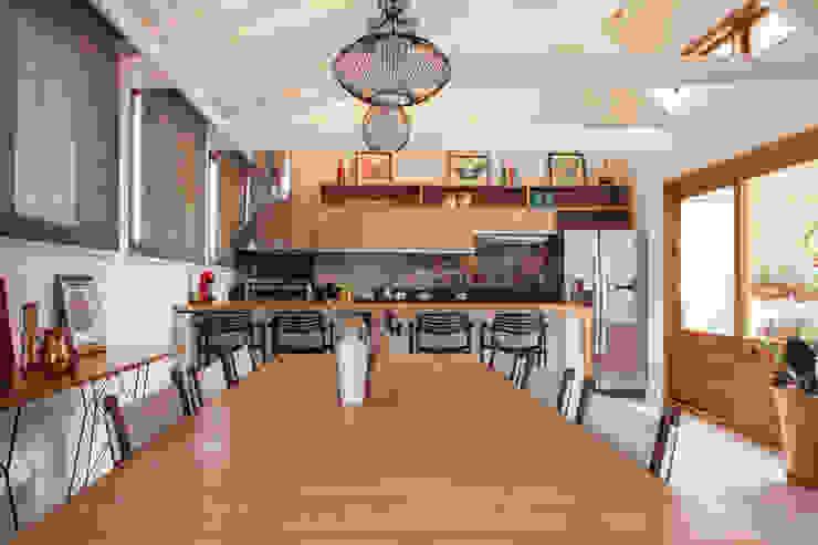 Espaço Gourmet por Biarari e Rodrigues Arquitetura e Interiores Rústico