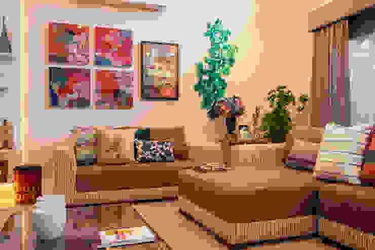 Sala de Estar por Biarari e Rodrigues Arquitetura e Interiores Eclético
