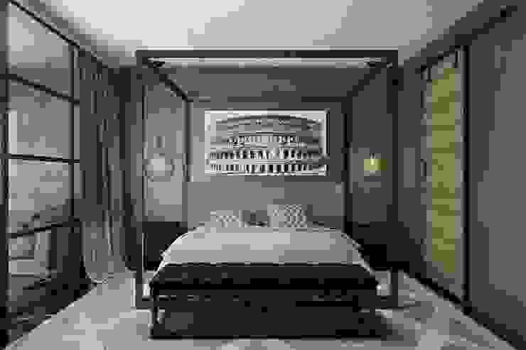 Лофт-Апартаменты в ж.к. TriBeCa Спальня в стиле лофт от Oh, Boy! Интерьеры с мужским характером Лофт